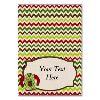 Ugly Christmas Sweater Party Food Tent Card Table Cards