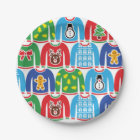 Ugly Christmas Sweater Party Holiday Xmas Party Paper Plate