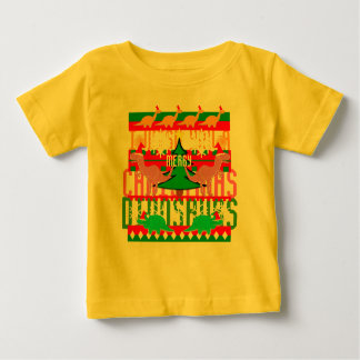 Ugly Christmas Sweater Pattern Cute Dinosaurs