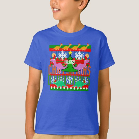 Ugly Christmas Sweater Pattern Dinosaurs