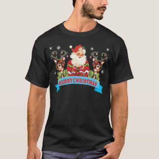 Ugly Christmas Sweater Reindeer and Santa