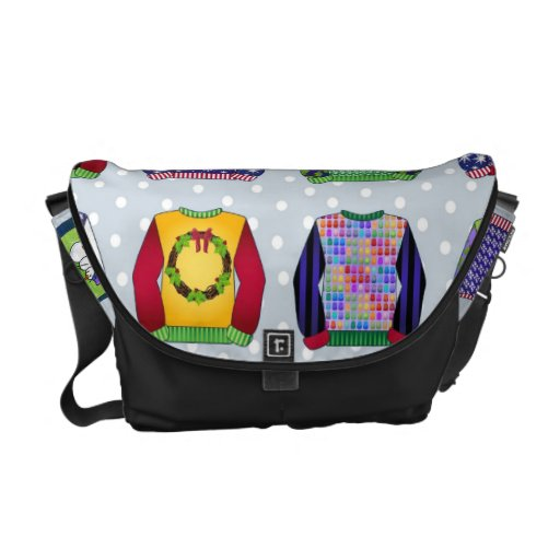 Ugly Christmas Sweaters (5).jpg Messenger Bags