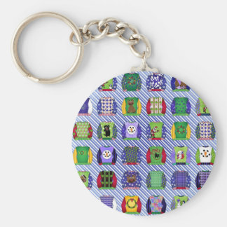 Ugly Christmas Sweaters Basic Round Button Key Ring