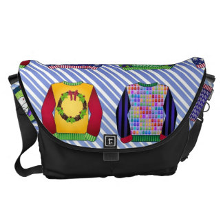 Ugly Christmas Sweaters Messenger Bags