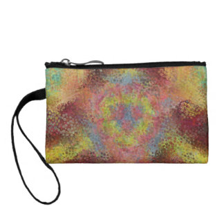 ugly colorful pattern coin wallet