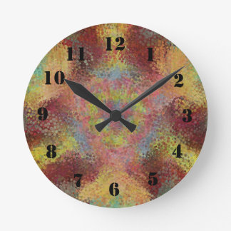 ugly colorful pattern wall clocks