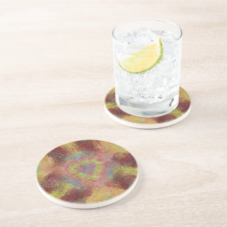 ugly colorful pattern drink coasters