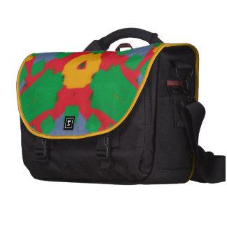 Ugly colorful pattern laptop messenger bag