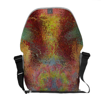 ugly colorful pattern courier bags