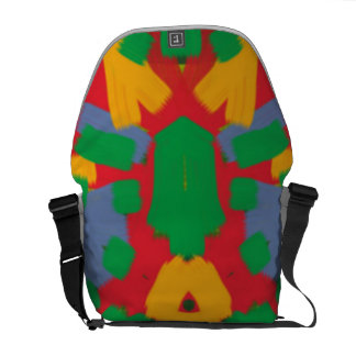 Ugly colorful pattern courier bag