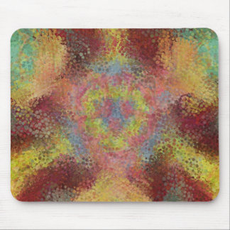 ugly colorful pattern mouse pad