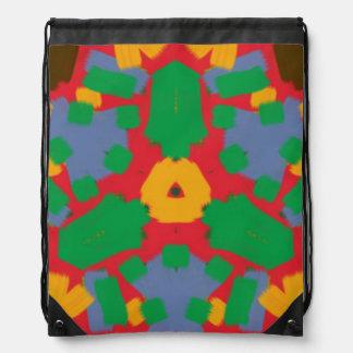 Ugly colorful pattern drawstring backpacks