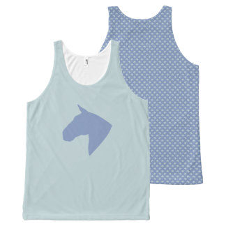 Ugly Duck Egg Blue Pony All-Over Print Tank Top