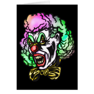 Ugly Evil Clown Greeting Card
