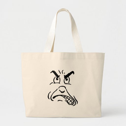 Ugly face canvas bag
