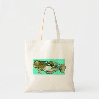 Ugly Green Fish Tote Bags