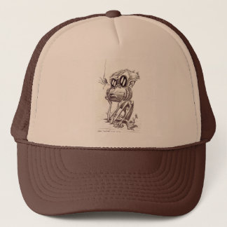 Ugly Monkey with Flower and Bug (Hat) Trucker Hat