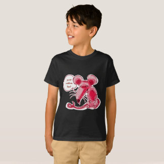 ugly mouse says something funny cartoon T-Shirt