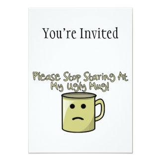 Ugly Mug 13 Cm X 18 Cm Invitation Card