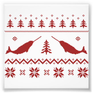 Ugly Narwhal Christmas Sweater Photo Print