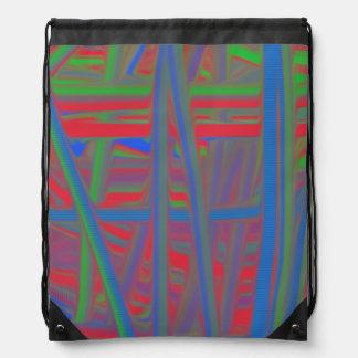 Ugly piece of art cinch bags