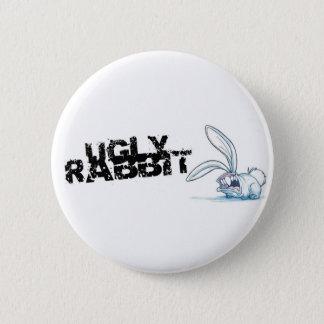 ugly rabbit 6 cm round badge