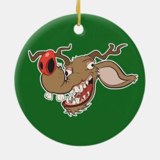 Ugly Reindeer Christmas Ornament