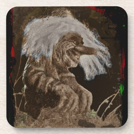 Ugly Smiling Troll Drink Coaster