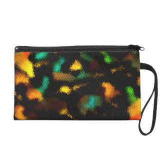 Ugly strange pattern wristlet purses