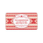 Ugly Sweater Christmas Holiday Address Labels