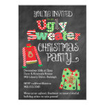Ugly Sweater Christmas Party Chalkboard Style 13 Cm X 18 Cm Invitation Card