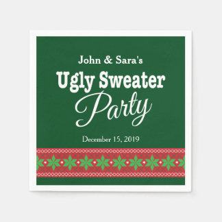 Ugly Sweater Christmas Party, Personalized Disposable Napkin