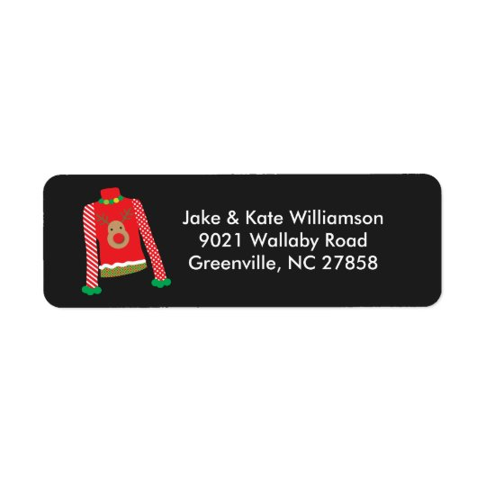 Ugly Sweater Christmas Party Return Address Labels