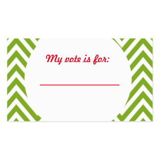 Ugly Sweater Christmas Party Voting Ballot Pack Of Standard Business Cards