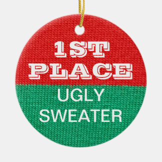 Ugly Sweater Christmas Party Winner 1st Prize Christmas Ornament
