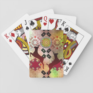 Ugly Sweater Christmas Reindeer Design Playing Cards