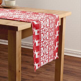 Ugly sweater Christmas reindeer table runner