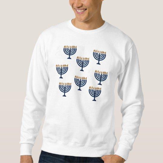 """""""Ugly Sweater"""" Hanukkah Menorah Sweatshirt"""