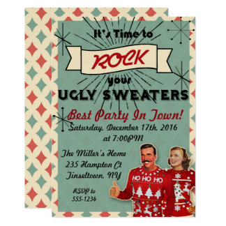 Ugly Sweater Hoilday Party Invitation