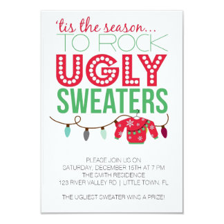 Ugly Sweater Holiday Party Card