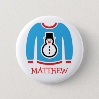 Ugly Sweater Holiday Party Name Tags 6 Cm Round Badge