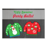 Ugly Sweater Party Contest Voting Ballot 9 Cm X 13 Cm Invitation Card