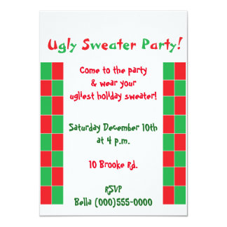 """Ugly Sweater Party"" Invitations"