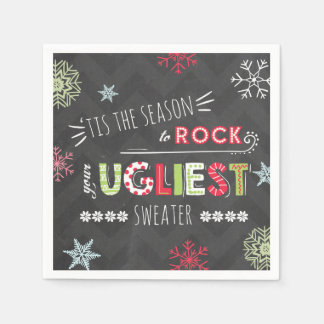 Ugly Sweater Party Napkin The season Chalkboard Disposable Napkin