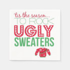 Ugly Sweater Party Paper Plates Disposable Napkin