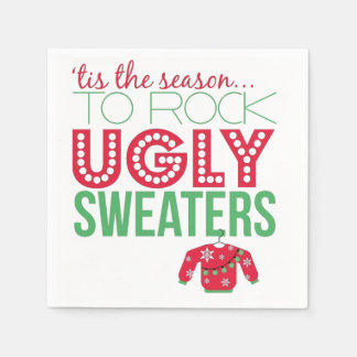 Ugly Sweater Party Paper Plates Paper Napkin