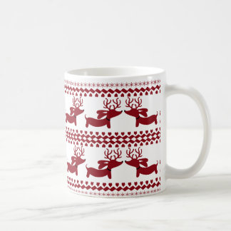 Ugly Sweater Reindeer Dachshund Tea Coffee Mug