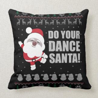 Ugly Sweater Santa Toss Pillow