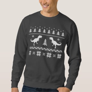 Ugly T-Rex Dinosaur Christmas Sweater
