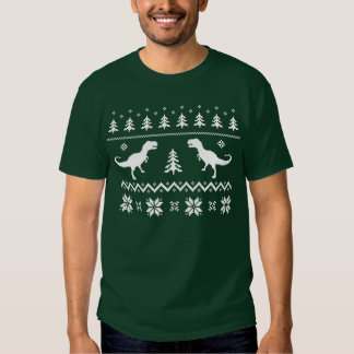 Ugly T-Rex Dinosaur Christmas Sweater Tshirts